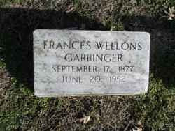 Frances <I>Wellons</I> Garringer