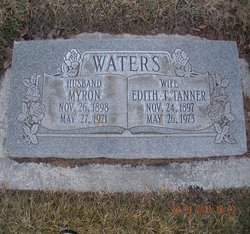 Edith T <I>Tanner</I> Waters