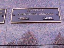 Beverley E <I>Schneider</I> Oldaker
