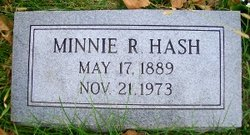 Minnie R <I>Ray</I> Hash