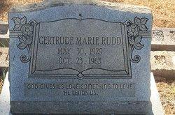 Gertrude Marie Rudd