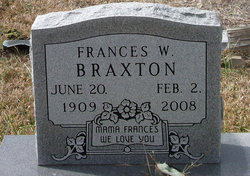 "Frances W ""Baby"" Braxton"
