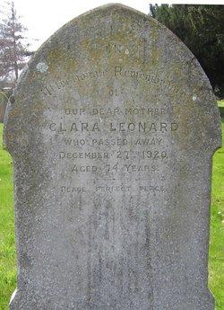 Clara <I>Moore</I> Leonard