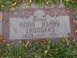 Anna Cady <I>Ashby</I> Saunders