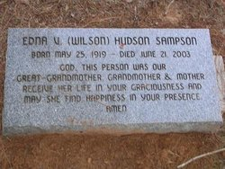 Edna V <I>Wilson</I> Hudson Sampson