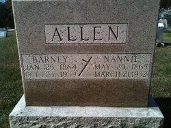 "Anna Isabel ""Nanny"" <I>Hardin</I> Allen"