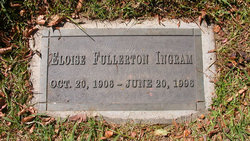 Eloise <I>Fullerton</I> Ingram
