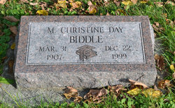 M Christine <I>Day</I> Biddle