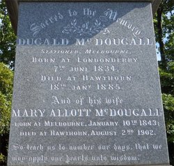 Mary Allott <I>Chisholm</I> McDougall