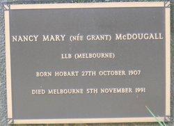 Nancy Mary <I>Grant</I> McDougall
