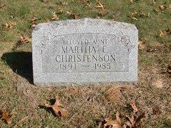 Martha E Christenson
