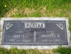 Mildred M <I>Edge</I> Runyan
