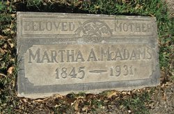 Martha Ann <I>Gabbert</I> McAdams