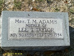"Mary J. ""Mollie"" <I>Poore</I> Adams"