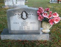"""Vera Sue """"Jackie"""" <I>Owen</I> Evans"""
