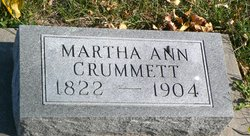 Martha Ann <I>Lewis</I> Crummett