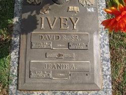 """David Earl """"Buddy"""" Ivey, Sr"""