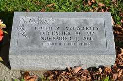 Edith W McGarrity