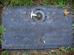 Sara <I>Raphael</I> Meyers