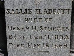 Sallie H. <I>Abbott</I> Sturges