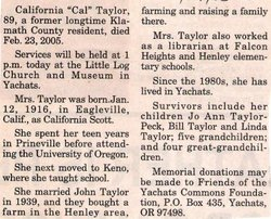 "California ""Cal"" Taylor"