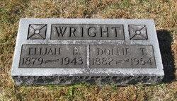 """Hallie Elizabeth """"Dollie"""" <I>Tarr</I> Wright"""