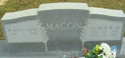 Mildred Lena <I>Olive</I> Macon