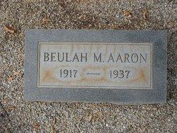 Beulah M. <I>Scroggs</I> Aaron
