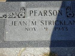 Jean M Strickland Pearson