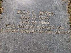 Ella Lee <I>Edenfield</I> Ayers