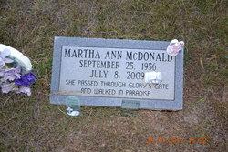 Mrs Martha Ann McDonald