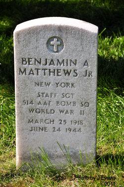 SSGT Benjamin A Matthews Jr.