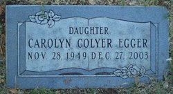 Carolyn Gene <I>Colyer</I> Egger
