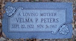 Velma Kathleen <I>Parsons</I> Peters