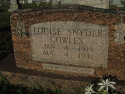 Louise <I>Snyder</I> Cowles