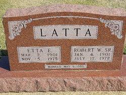 Etta E <I>King</I> Latta