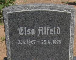 Elsa M W <I>Finkeldeh</I> Alfeld