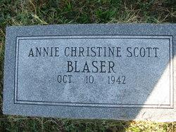 Annie Christine <I>Scott</I> Blaser
