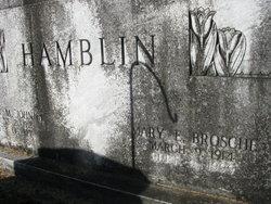 Mary E <I>Brosche</I> Hamblin