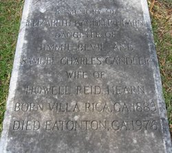 Elizabeth <I>Candler</I> Hearn