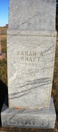 Sarah Ann <I>Gray</I> Craft