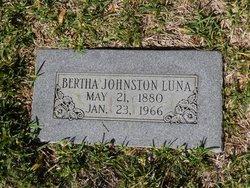Bertha <I>Johnston</I> Luna