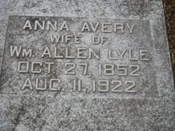 Ruth Anna <I>Avery</I> Lyle