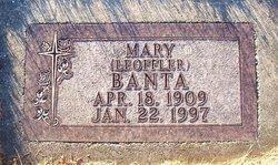 Mary <I>Leoffler</I> Banta