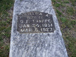 Martha A <I>Jones</I> Tharpe