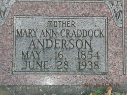 Mary Ann <I>Craddock</I> Anderson