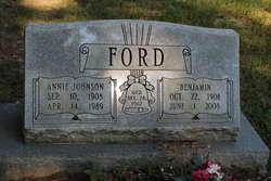 Annie <I>Johnson</I> Ford
