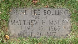 Anne Lee <I>Bolling</I> Maury