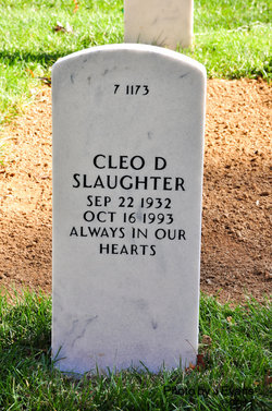 Cleo D Slaughter