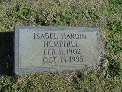 Isabell <I>Hardin</I> Hemphill
